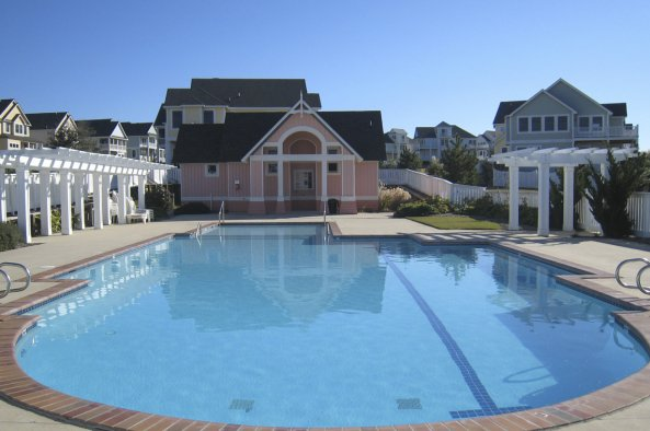 community pool at the currituck club, outer banks NC