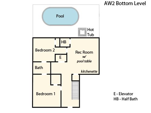 Bottom Level Floor Plan