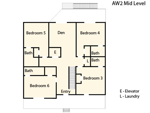 Middle Level Floor Plan