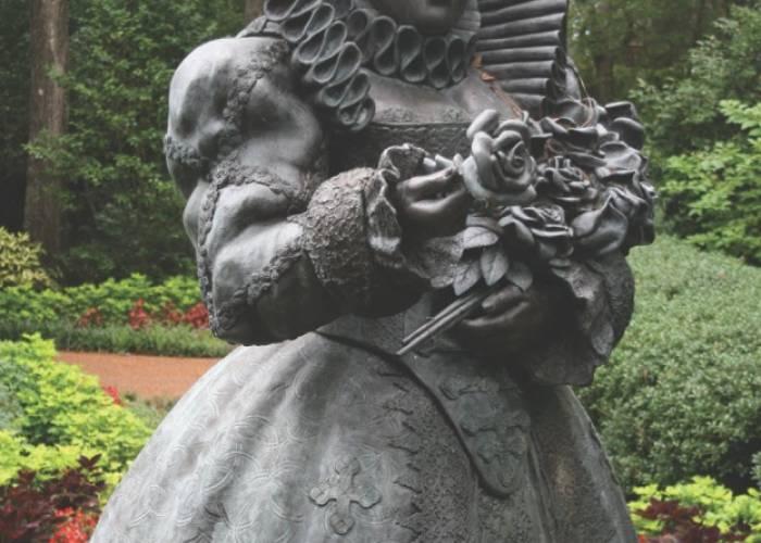 historical statue, Elizabeth Gardens