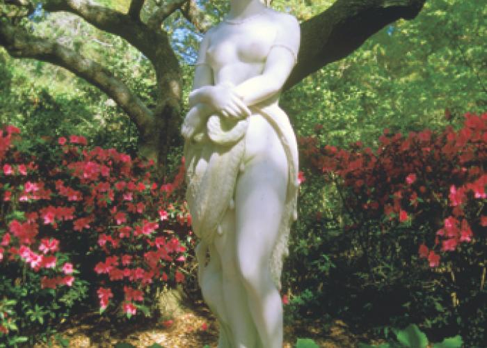 statue at Elizabeth Gardens