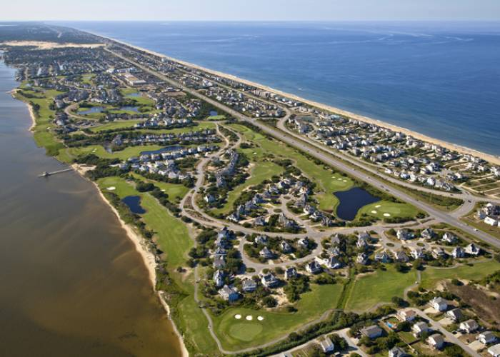 aerial view of Nags Head Golf Links, Nags Head NC