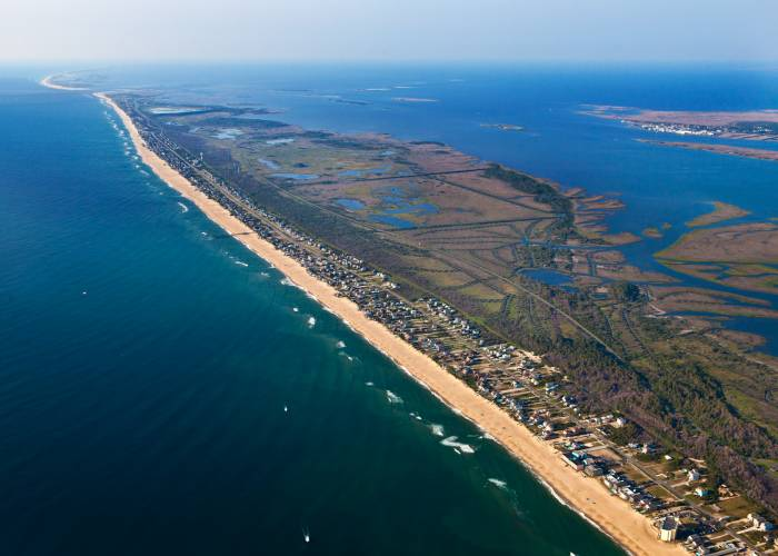 aerial view of South Nags Head, NC