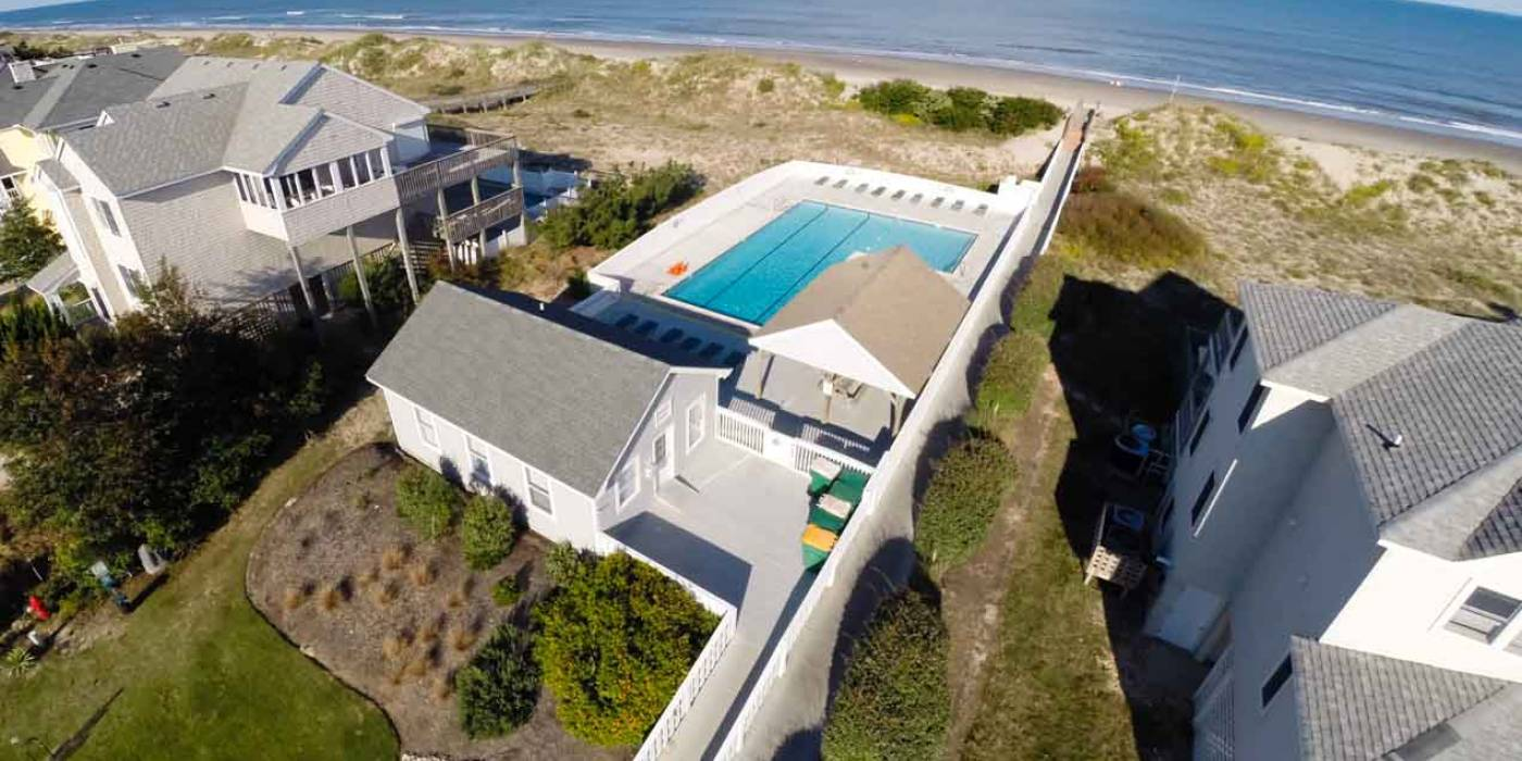 oceanfront home with pool