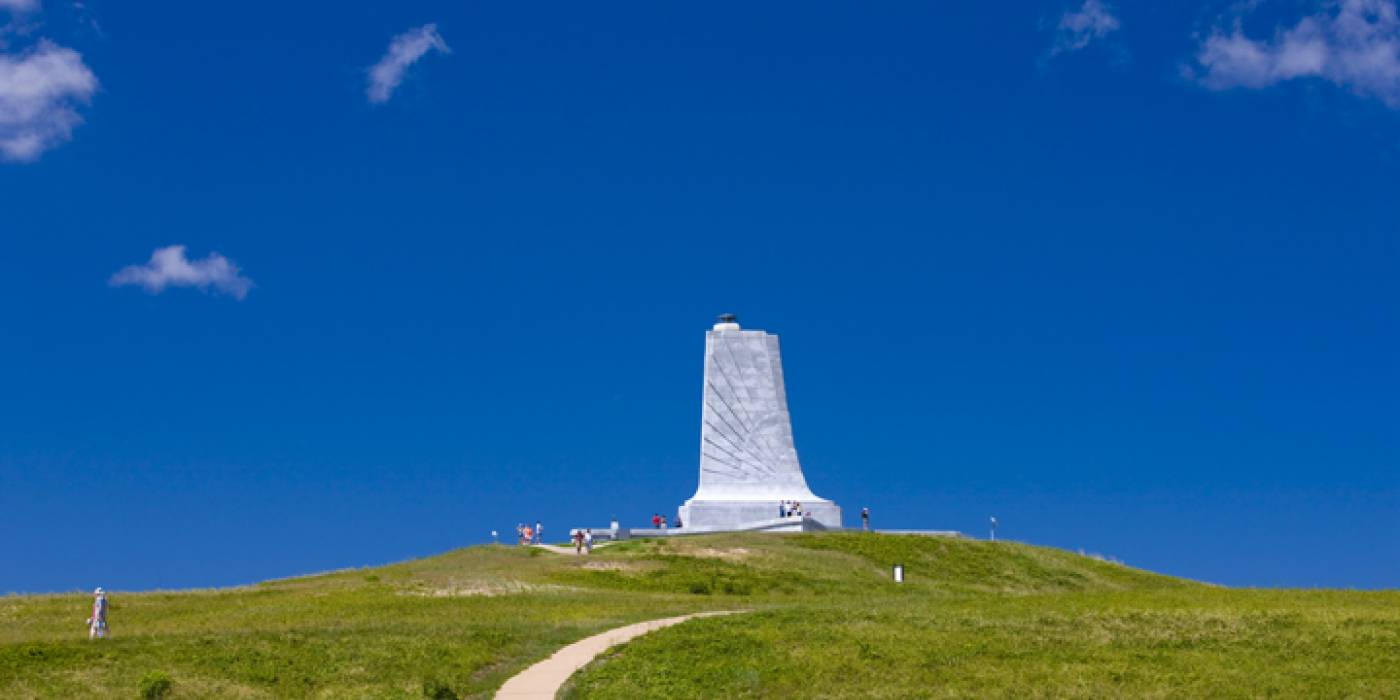 memorial pylon in Kill Devil Hills N.C.