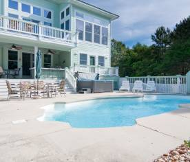 Private Pool Area - 12x30 Pool, Hot Tub, Wet Bar, 2 Grills, Dining Area