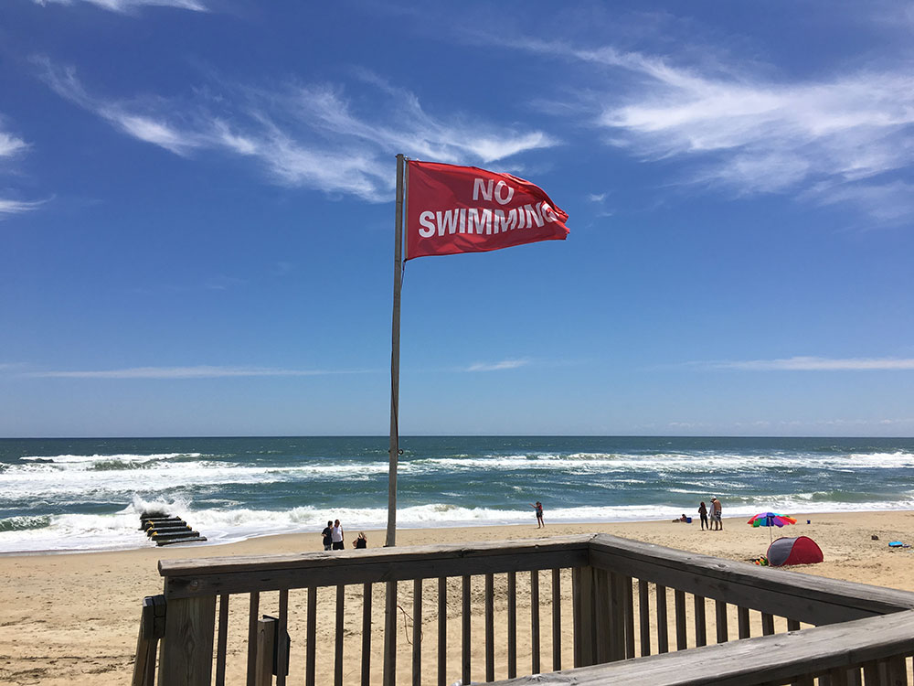 Red Flags No Swimming OBX
