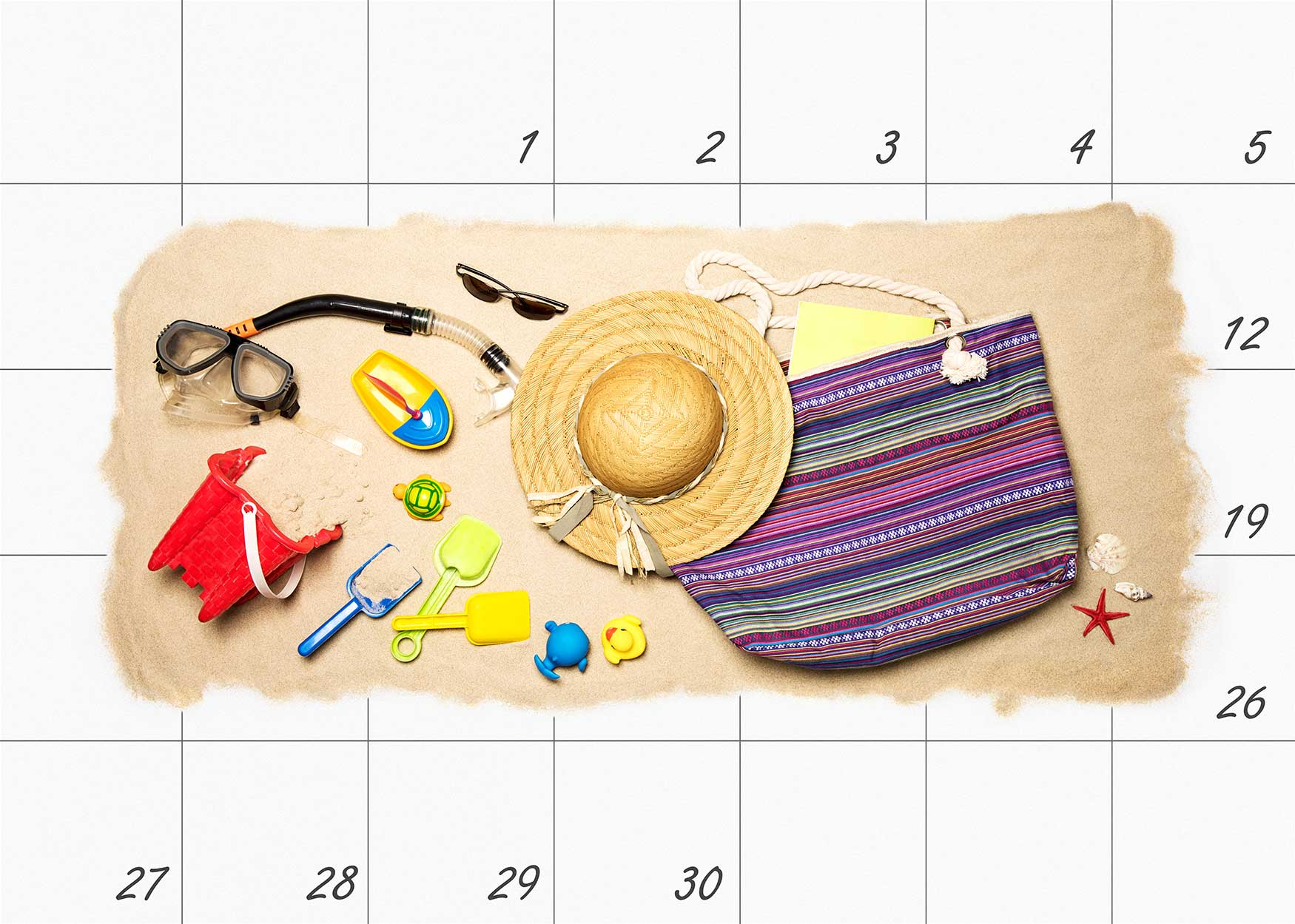 Vacation on Calendar Plans